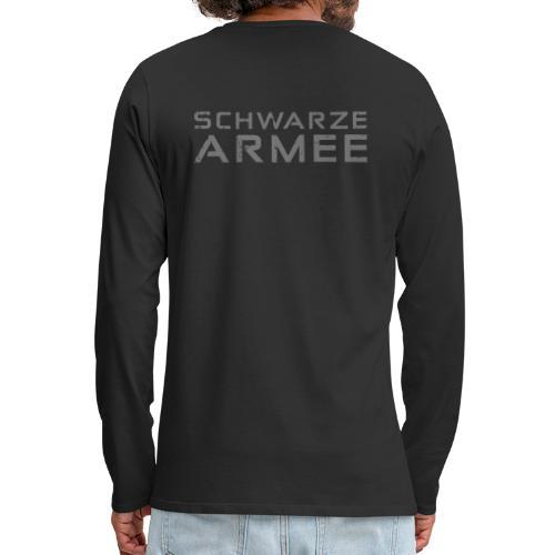 Grey Negant logo + SCHWARZE ARMEE! - Herre premium T-shirt med lange ærmer