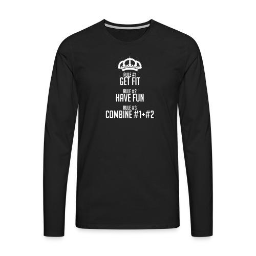 FITNESS RULES - Camiseta de manga larga premium hombre
