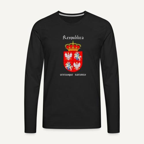 respiblika - Koszulka męska Premium z długim rękawem