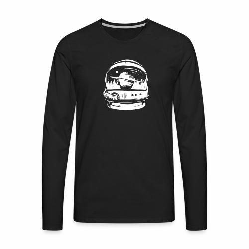 Woodspace Astronaut - Koszulka męska Premium z długim rękawem