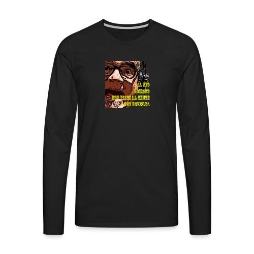Caro Carlo mio somaro - Maglietta Premium a manica lunga da uomo
