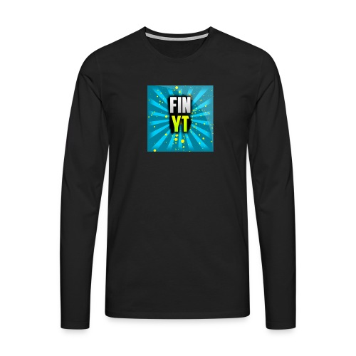 Uusi Youtube Logo - Miesten premium pitkähihainen t-paita