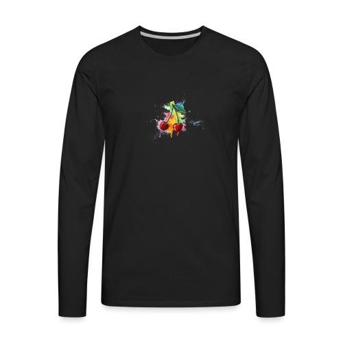 Cherries Watercolors Nadia Luongo - Maglietta Premium a manica lunga da uomo