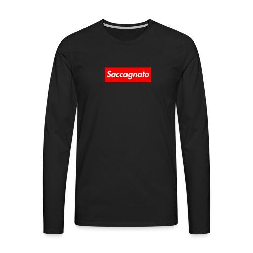 Saccagnato - Maglietta Premium a manica lunga da uomo