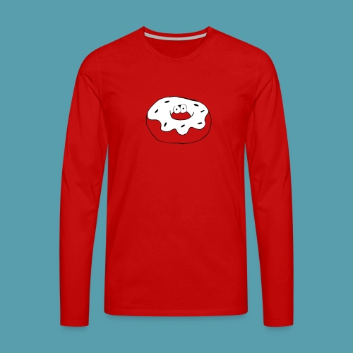 Donitsi - Miesten premium pitkähihainen t-paita
