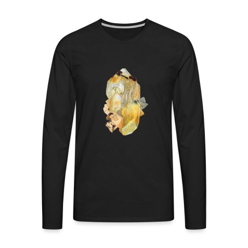 Bergkristall mit Granat - Männer Premium Langarmshirt