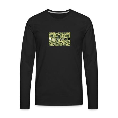 savage camo premium - Männer Premium Langarmshirt