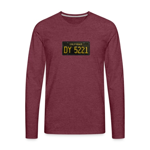 CALIFORNIA BLACK LICENCE PLATE - Men's Premium Longsleeve Shirt