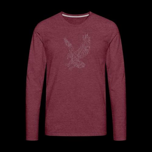 Circuit eagle White - Herre premium T-shirt med lange ærmer