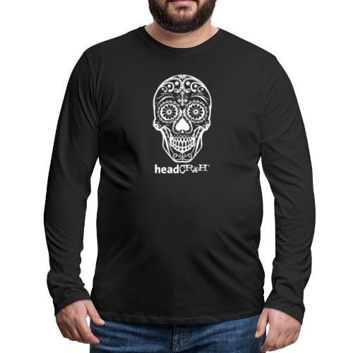 Skull & Logo white - Männer Premium Langarmshirt