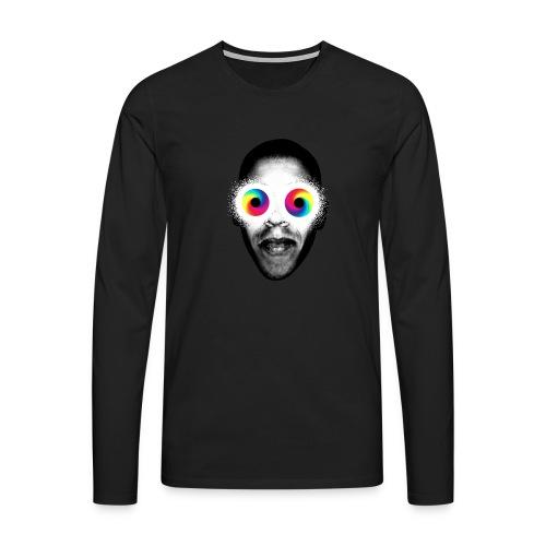 Psykedeliska - Långärmad premium-T-shirt herr