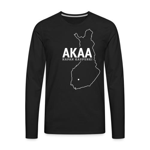 Kotiseutupaita - Akaa - Miesten premium pitkähihainen t-paita