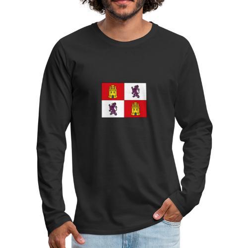 ESCUDO CASTILLA Y LEON - Camiseta de manga larga premium hombre