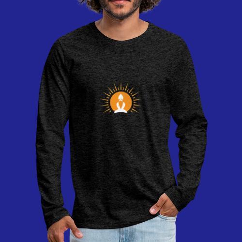 Guramylyfe logo white no text - Men's Premium Longsleeve Shirt