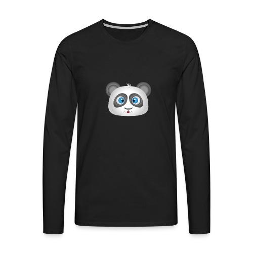 panda head / cabeza de panda 2 - Camiseta de manga larga premium hombre