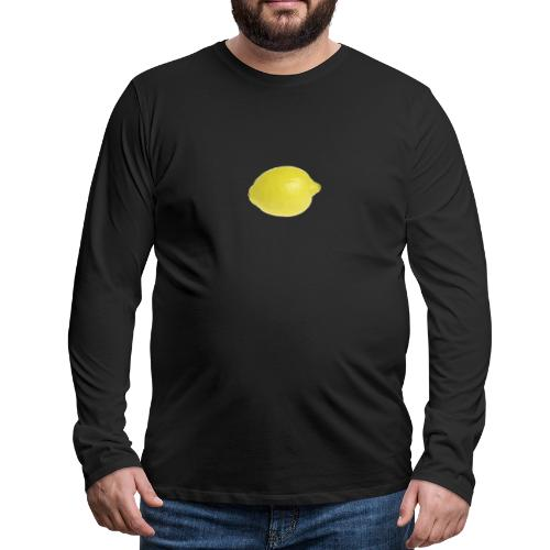 Zitrone - Männer Premium Langarmshirt