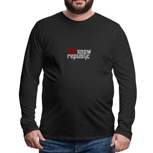 SNOWREPUBLIC 2020 - Mannen Premium shirt met lange mouwen