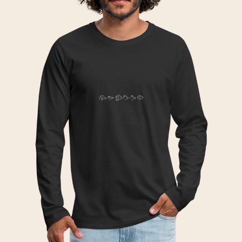 Visages de chien - T-shirt manches longues Premium Homme