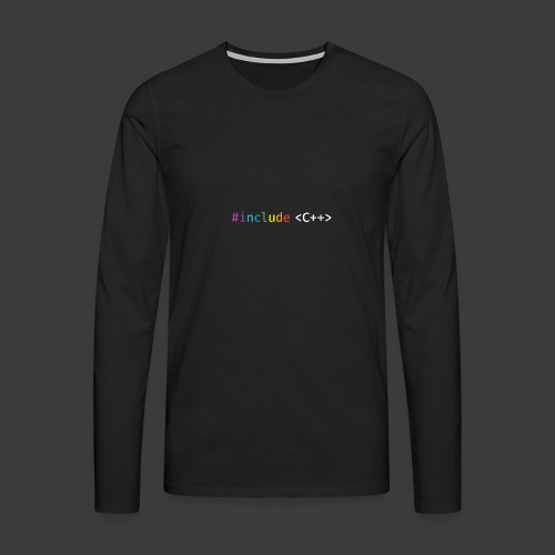rainbow for dark background - Men's Premium Longsleeve Shirt