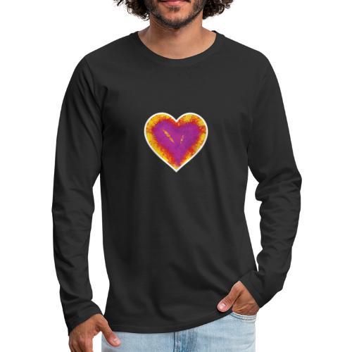 Stitched Heart - Men's Premium Longsleeve Shirt
