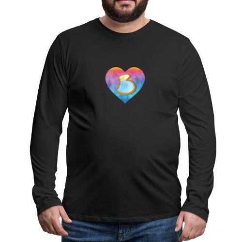 Be a B Heart - Men's Premium Longsleeve Shirt