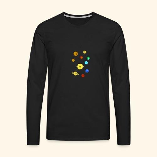 Solsystemet - Långärmad premium-T-shirt herr