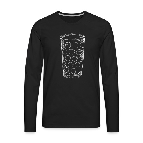 Dubbeglas un kä Blumevase - Männer Premium Langarmshirt