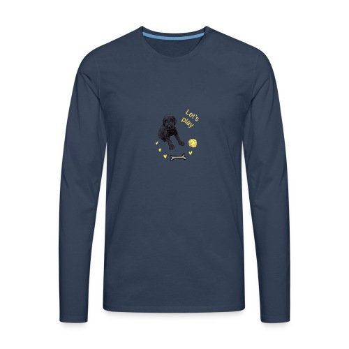 Giant Schnauzer puppy - Men's Premium Longsleeve Shirt