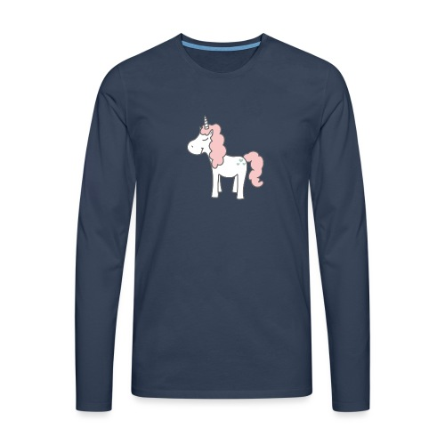 unicorn as we all want them - Herre premium T-shirt med lange ærmer