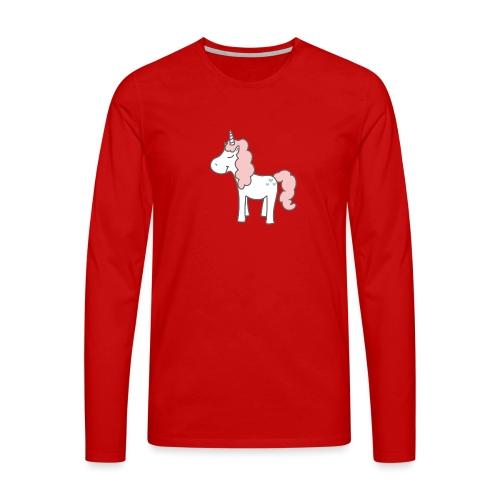 unicorn as we all want them - Herre premium T-shirt med lange ærmer