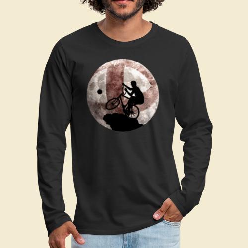 Radball   Cycle Ball Moon - Männer Premium Langarmshirt
