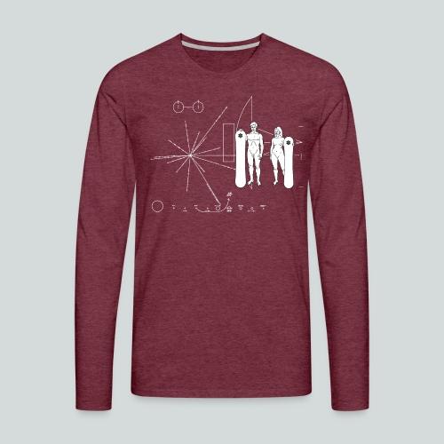 Snowboard Pioneer Plaque - T-shirt manches longues Premium Homme
