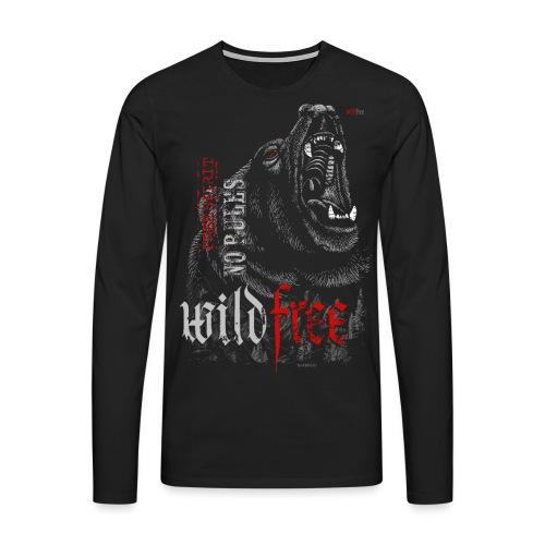 WILDFREE   BEAR - Männer Premium Langarmshirt