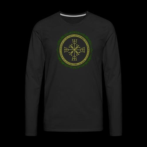 Norse Runes with Aegishjalmur 2017 - Men's Premium Longsleeve Shirt