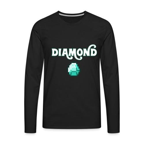 Diamond Boos - Maglietta Premium a manica lunga da uomo