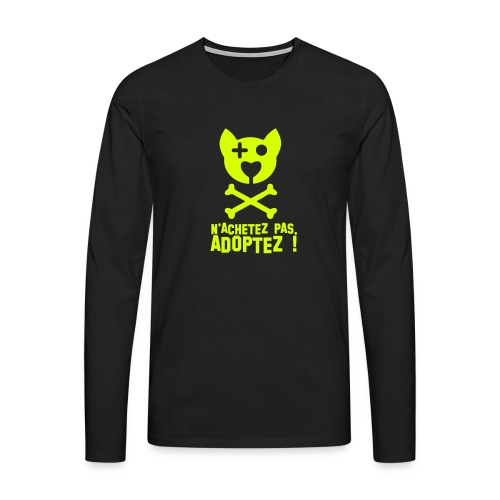 Adoptez ! - T-shirt manches longues Premium Homme