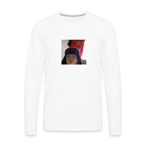 Kommunisti Saska - Miesten premium pitkähihainen t-paita