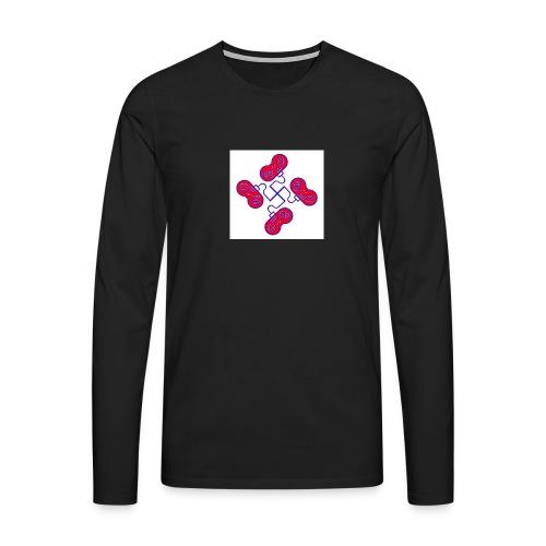 unkeon dunkeon - Miesten premium pitkähihainen t-paita