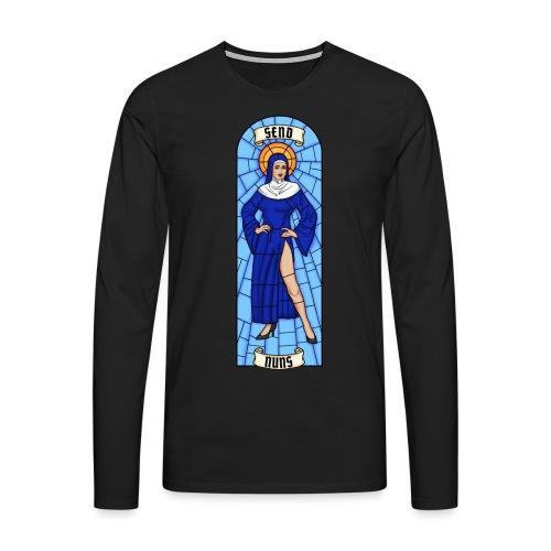 SEND NUNS - Koszulka męska Premium z długim rękawem
