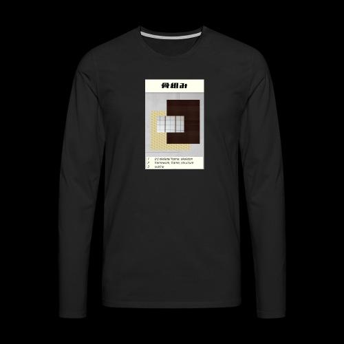 skeleton - Männer Premium Langarmshirt