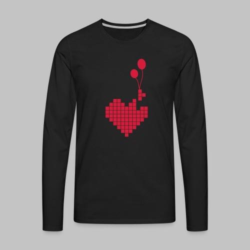 heart and balloons - Men's Premium Longsleeve Shirt