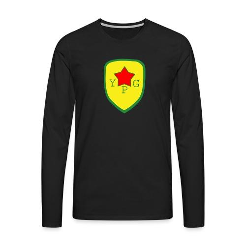 Mens Green YPG Support Tee - Miesten premium pitkähihainen t-paita