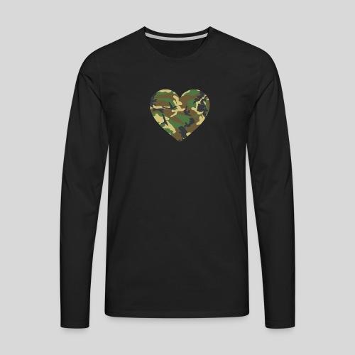 Camo Heart - Männer Premium Langarmshirt