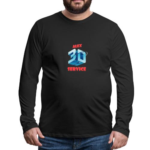 logo emporesa de impresion 3d en albacete - Camiseta de manga larga premium hombre