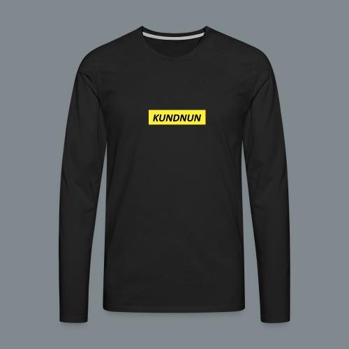 Kundnun official - Mannen Premium shirt met lange mouwen
