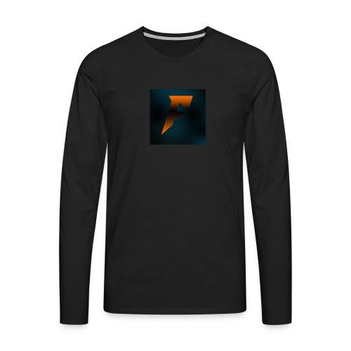 YoutubeLogo - Miesten premium pitkähihainen t-paita