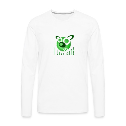 I Love Cats - Men's Premium Longsleeve Shirt