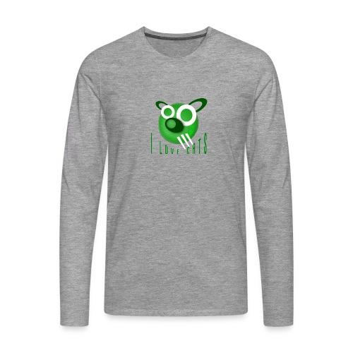 I Love Cats - Men's Premium Longsleeve Shirt
