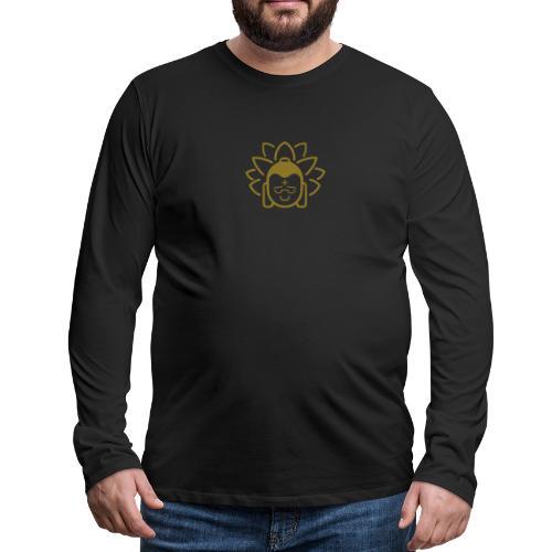Boeddha hoofd blad - Mannen Premium shirt met lange mouwen