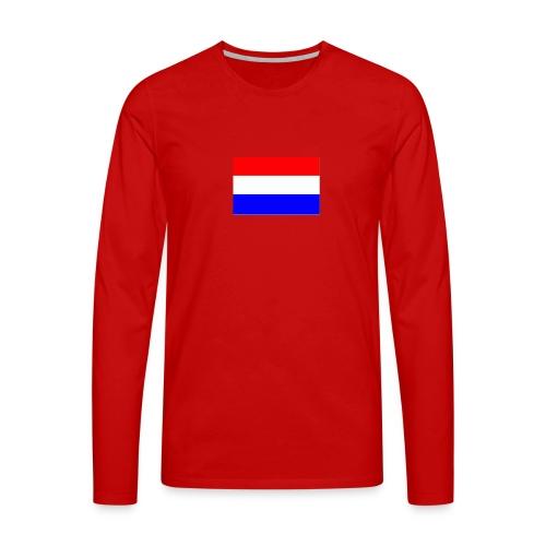 vlag nl - Mannen Premium shirt met lange mouwen